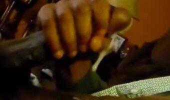 Straight Black Man Shooting Thick Load